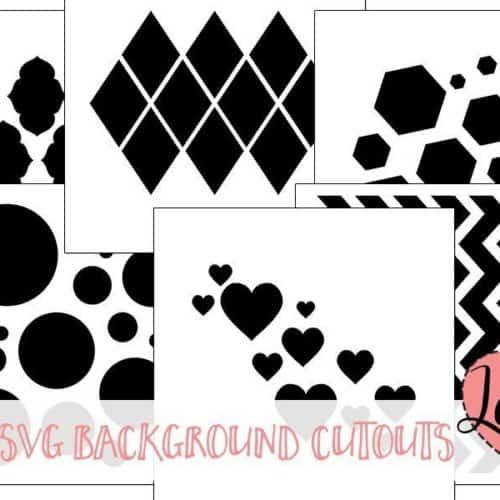 SVG Scrapbook Background Cutting File