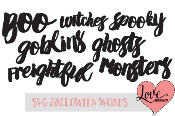 SVG-Halloween-Words