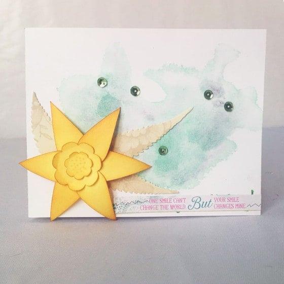 daffodil svg card
