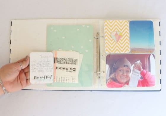 Project life Flip Journaling Card