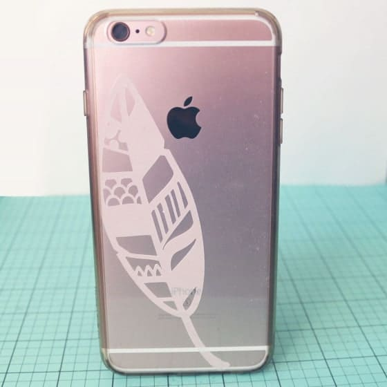 SVG iPhone Case Feather