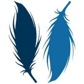 Free Feather SVG - Use this feather SVG for your paper crafting projects with your die cutting machine | LovePaperCrafts.com