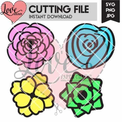 Artistic Flower SVG Cutting File | LovePaperCrafts.com