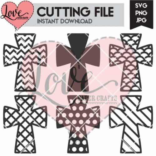 Cross SVG Digital Cutting File | LovePaperCrafts.com