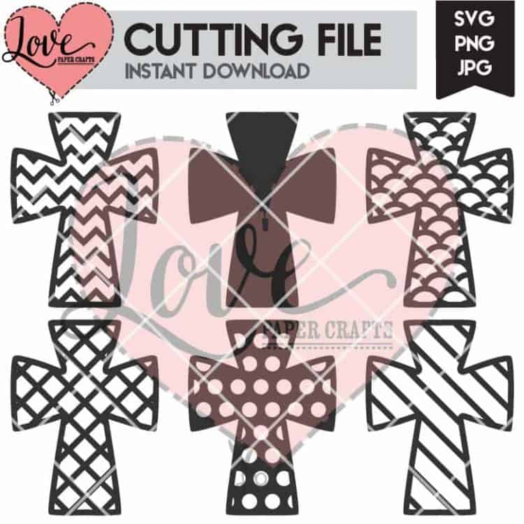 Cross SVG Digital Cutting File | LovePaperCrafts.com