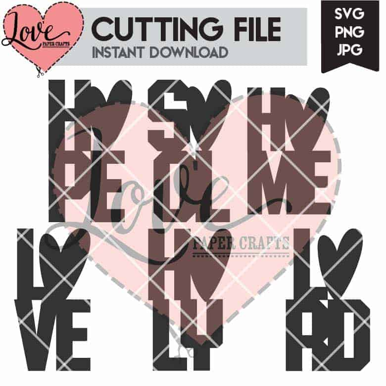 Holy Christian Words SVG Cutting File | LovePaperCrafts.com
