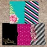 Black, White, Teal and Pink Printable Planner Dividers | LovePaperCrafts.com