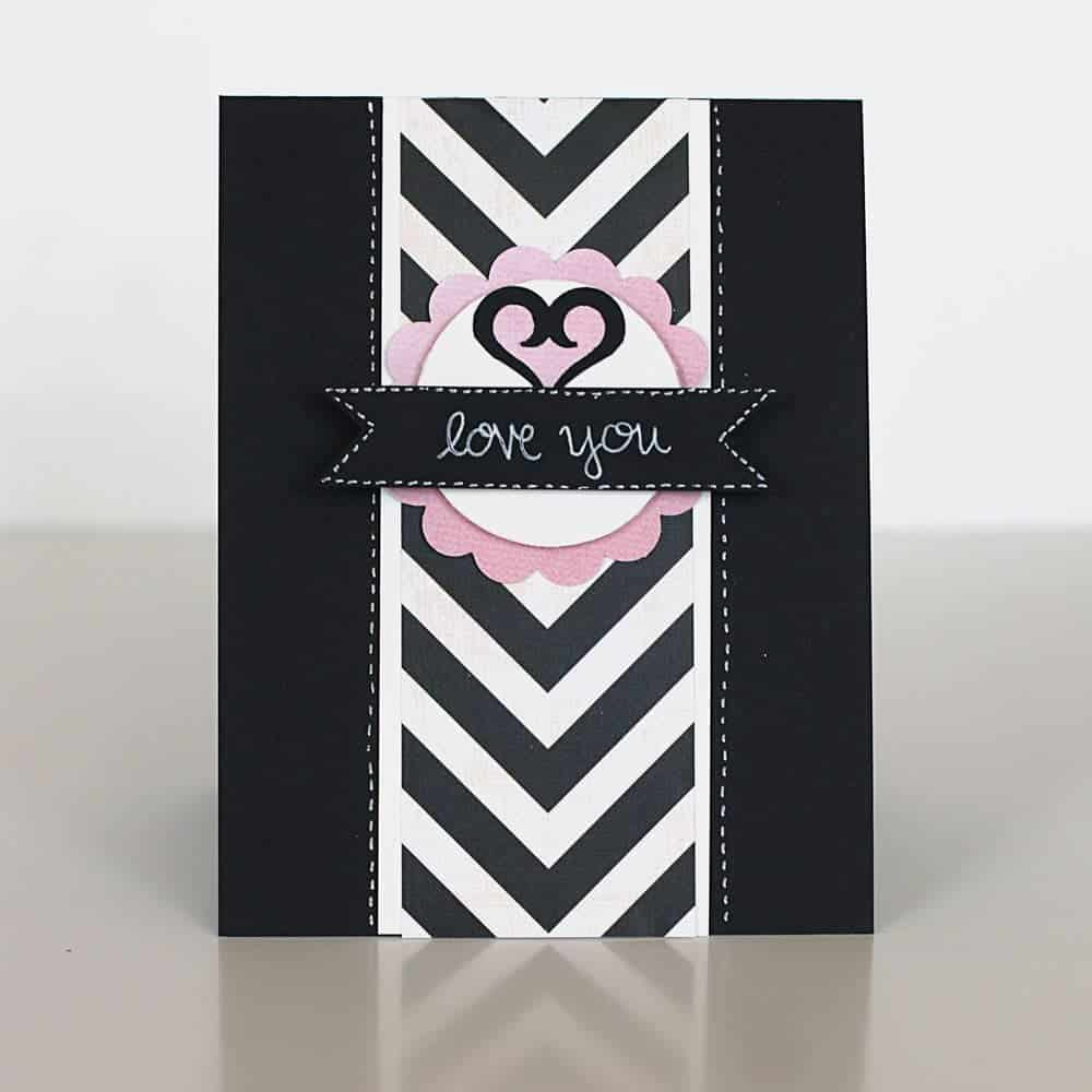 Black and White Mother's Day Card | LovePaperCrafts.com