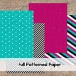 Black, White, Teal and Pink Printable Scrapbook Paper | LovePaperCrafts.com
