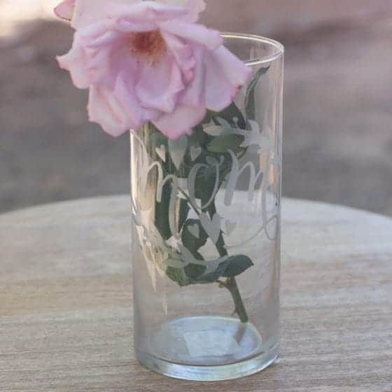 DIY Etched Mothers Day Vase | LovePaperCrafts.com