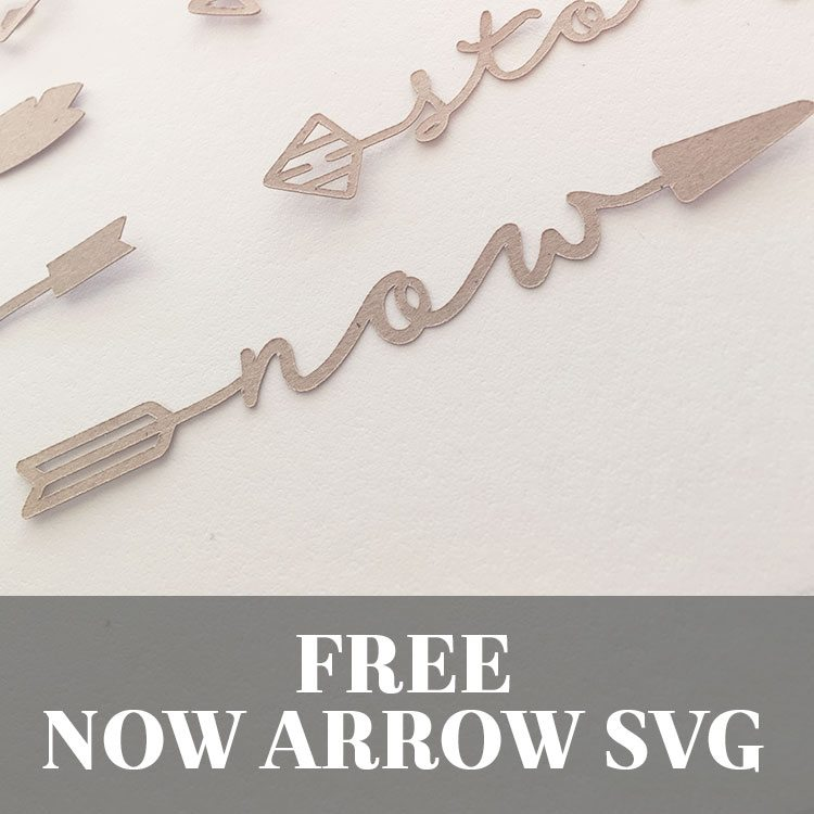 Free Now Word Arrow SVG Cut File | LovePaperCrafts.com