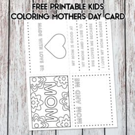 Free Printable Kids Coloring Mothers Day Card | LovePaperCrafts.com