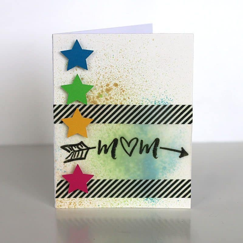 Handmade Bright Mother's Day Card | LovePaperCrafts.com