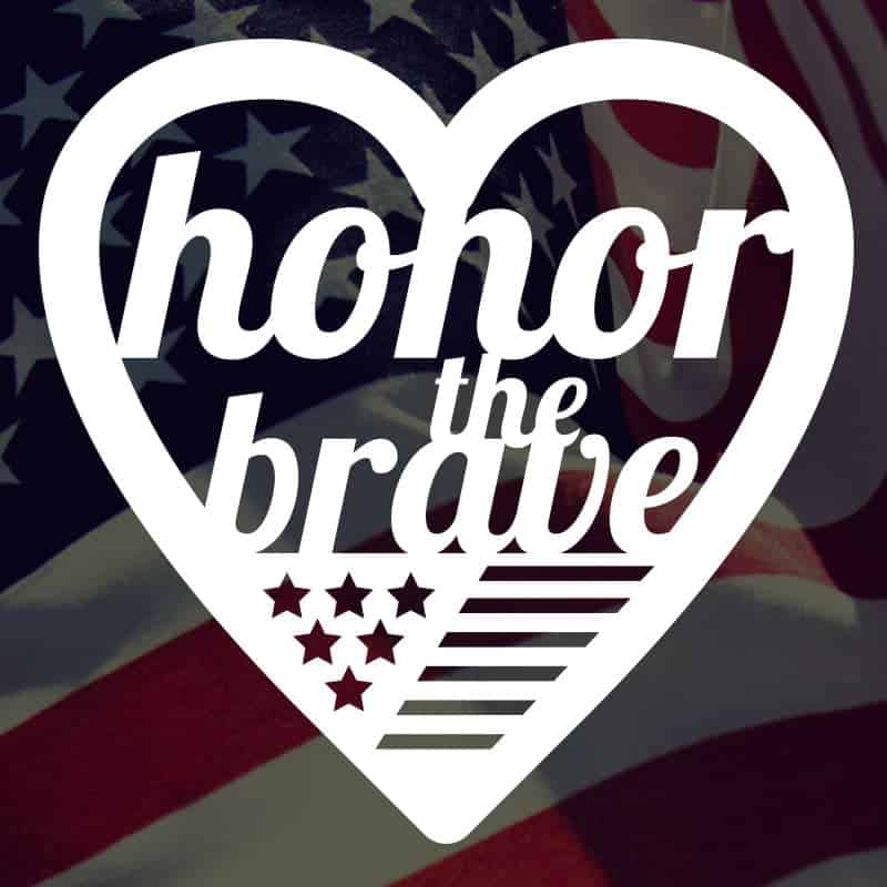 Honor the Brave Free SVG