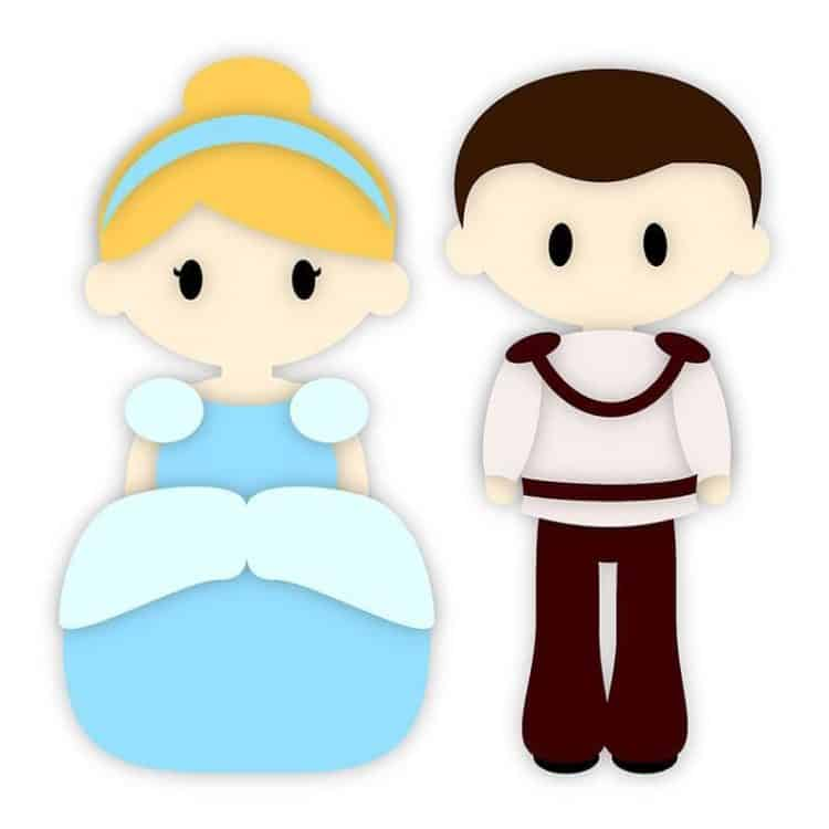 Cute Prince and Princess SVG Cutting file for the Silhouette!   LovePaperCrafts.com