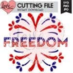Freedom and Fireworks SVG Cut File   LovePaperCrafts.com
