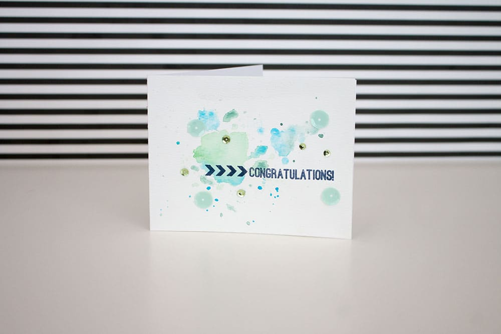 Pretty Blue Watercolor Card | LovePaperCrafts.com