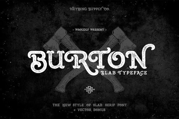 Burton Cuttable Font | LovePaperCrafts.com