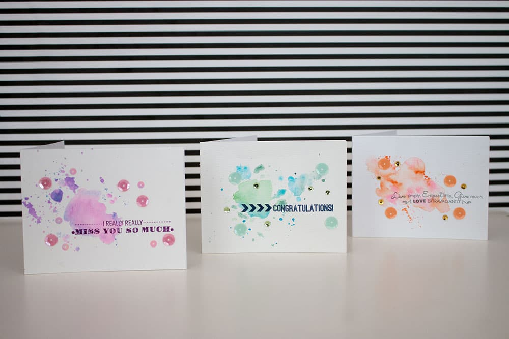 Easy Watercolor Card Tutorial | LovePaperCrafts.com
