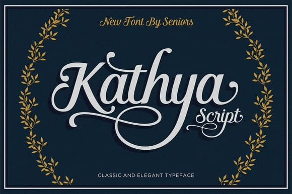 Kathya Cuttable Script Font | LovePaperCrafts.com