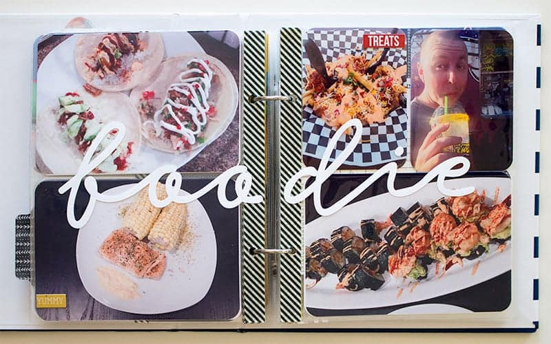 Project Life 6x8 Food Layout   LovePaperCrafts.com