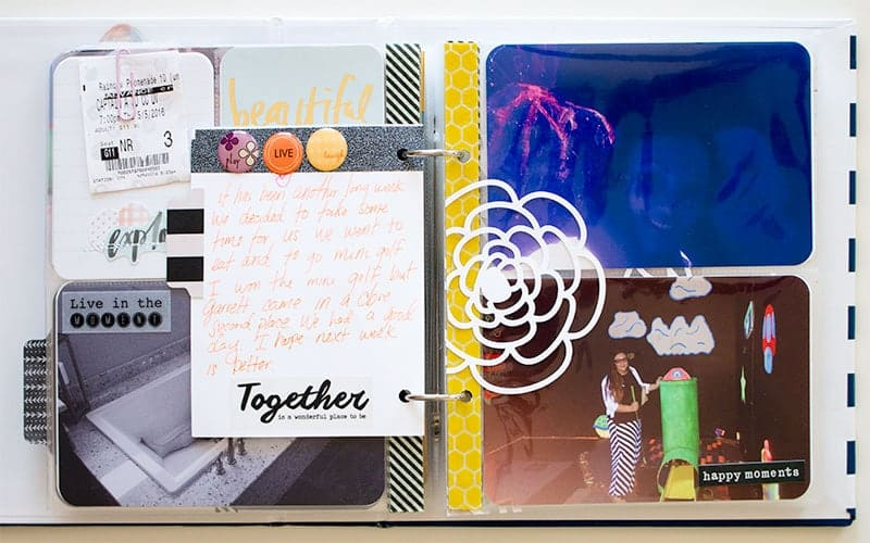 Project Life 6x8 Journaling Layout | LovePaperCrafts.com