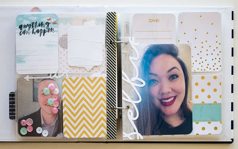 Project Life 6x8 Selfie Layout | LovePaperCrafts.com