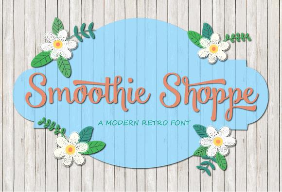 Smoothie Shoppe Cuttable Script Font | LovePaperCrafts.com