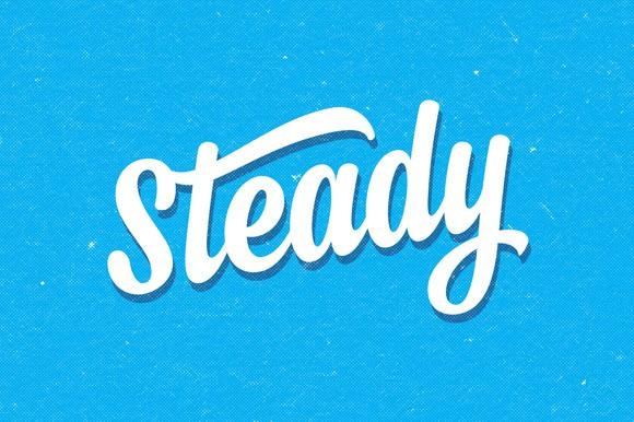 Steady Cuttable Script Font | LovePaperCrafts.com