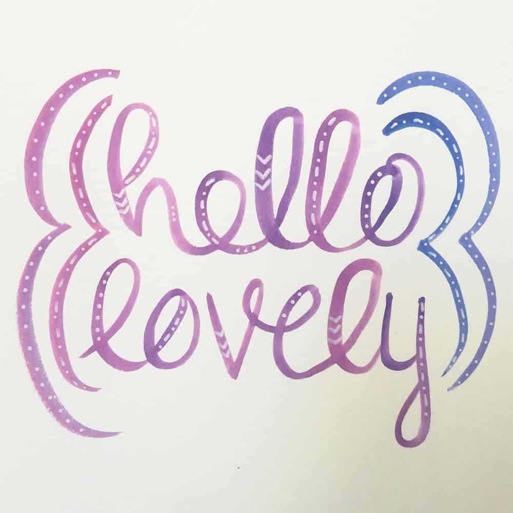 Watercolor Brush Lettering | LovePaperCrafts.com