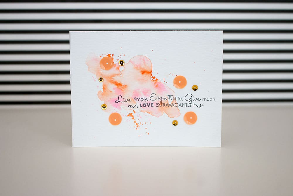 Watercolor Card Tutorial | LovePaperCrafts.com