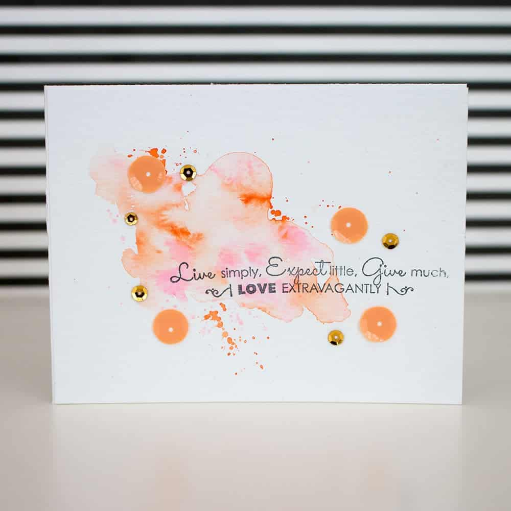 Watercolor Card | LovePaperCrafts.com