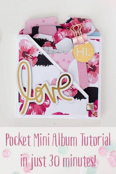 Envelope Pocket Mini Album Tutorial in 30 Minutes | LovePaperCrafts.com