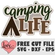 Free Camping Cut File SVG DXF EPS | LovePaperCrafts.com