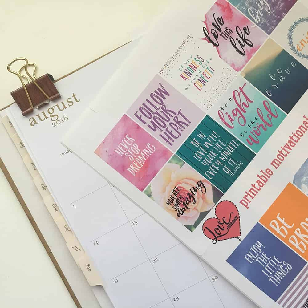 Free Motivational Printable Planner Stickers - Love Paper ...