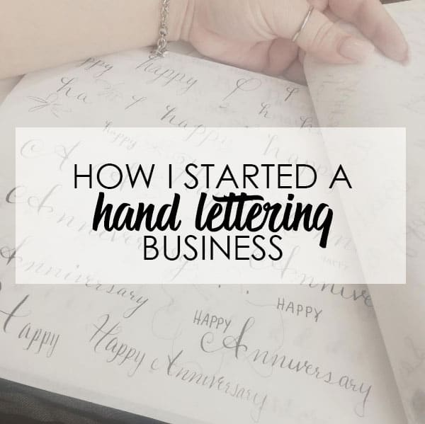 How I started a Hand Lettering Business | LovePaperCrafts.com