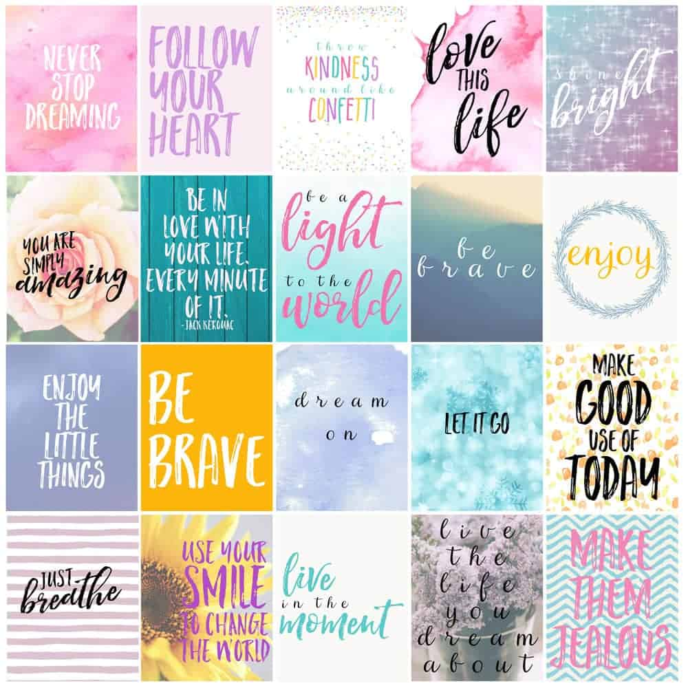 free motivational printable planner stickers - love paper crafts