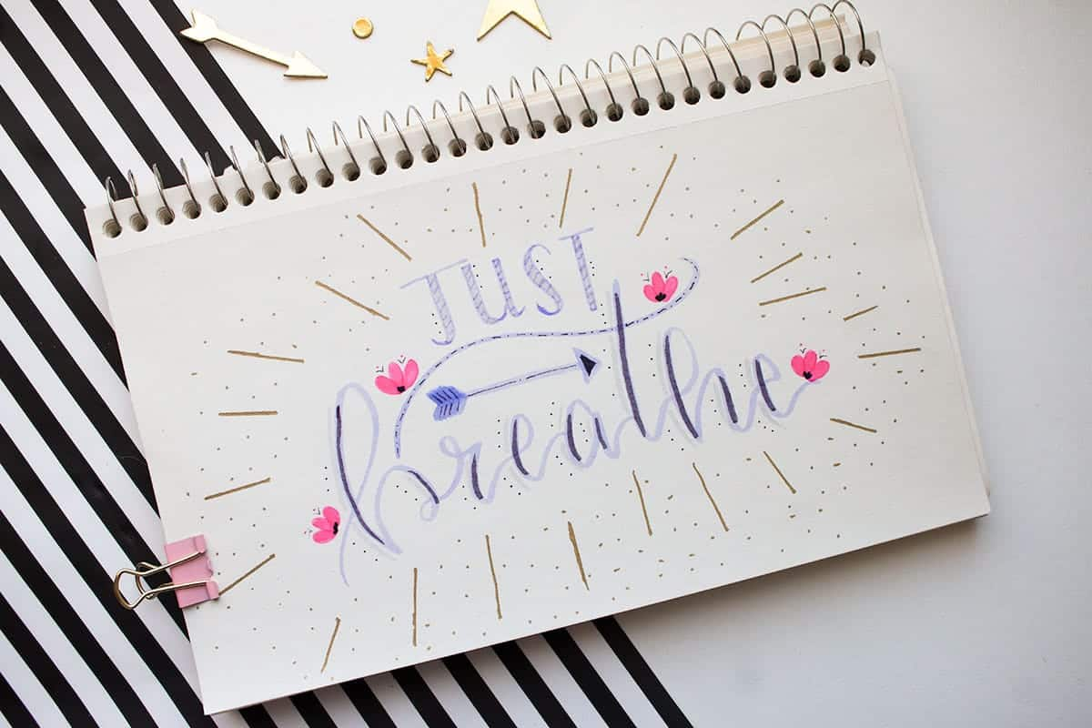 Brush Marker Calligraphy DIY | LovePaperCrafts.com