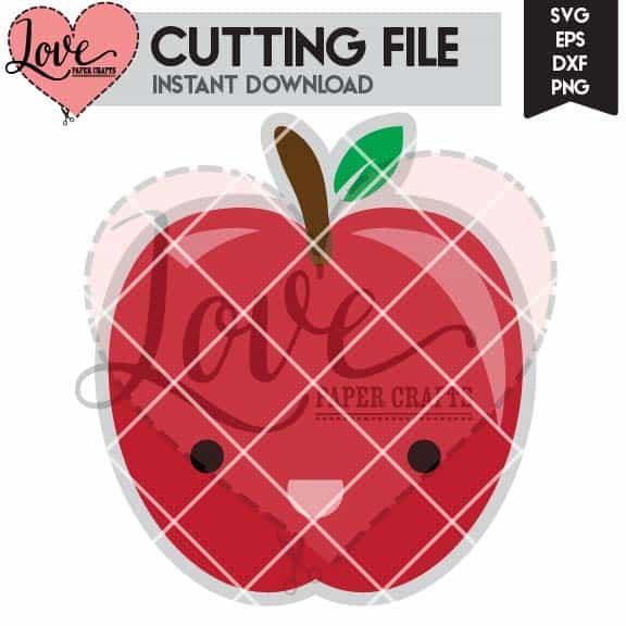 Cute Apple SVG Cut File   LovePaperCrafts.com