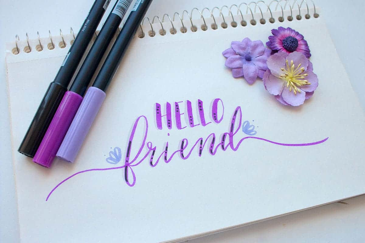 Learn How to Do Marker Calligraphy | LovePaperCrafts.com