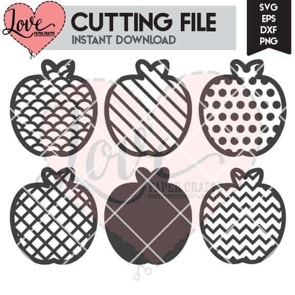 Apples SVG DXF EPS PNG JPG Cut File and Clip Art for Silhouette and Cricut | LovePaperCrafts.com