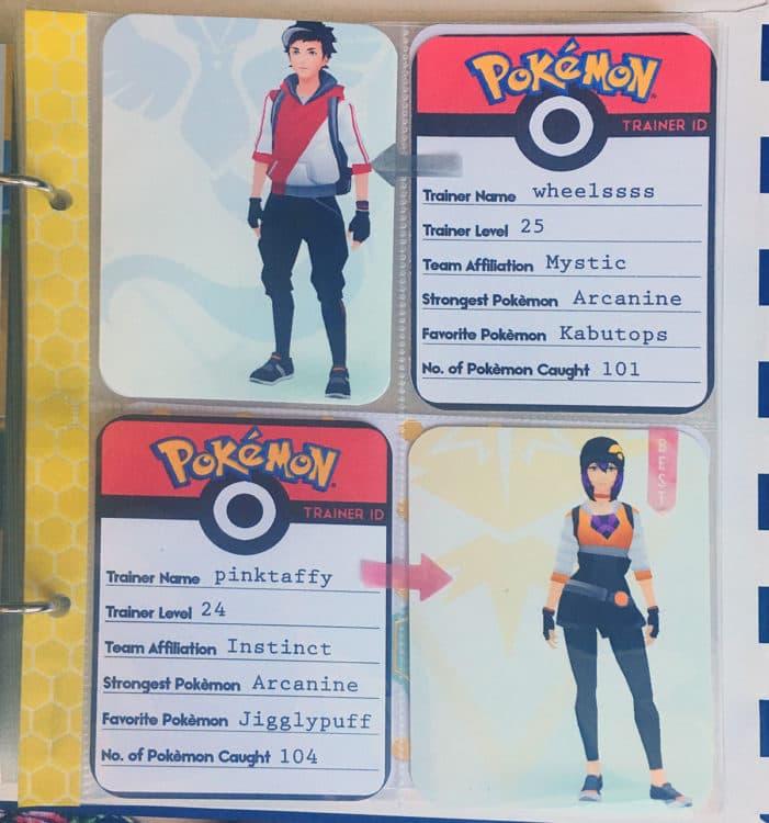 Printable Pokémon Go Trainer ID Cards