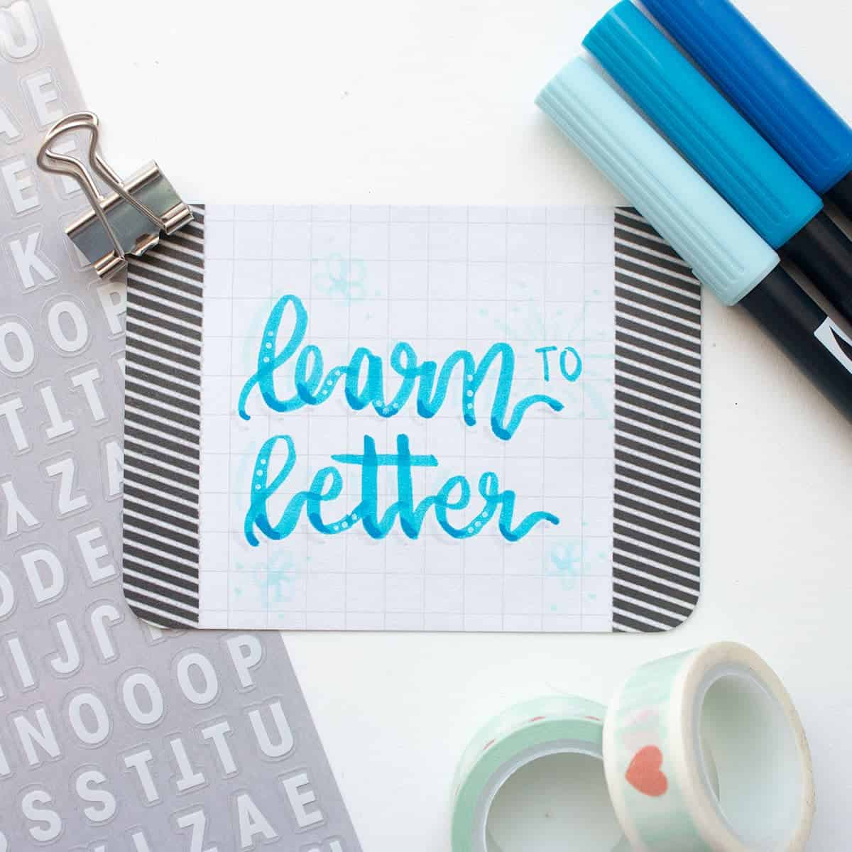 Learn How to Do Hand Lettering | LovePaperCrafts.com