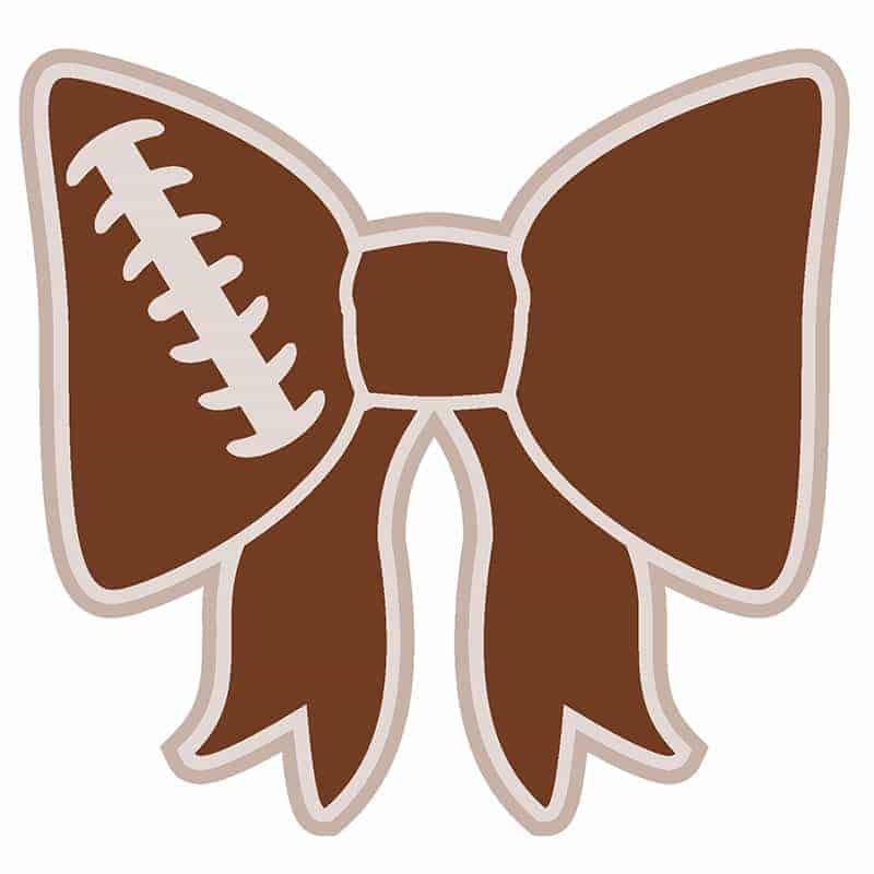 Free Football Bow SVG EPS DXF PNG Digital Cut File and Clip Art | LovePaperCrafts.com