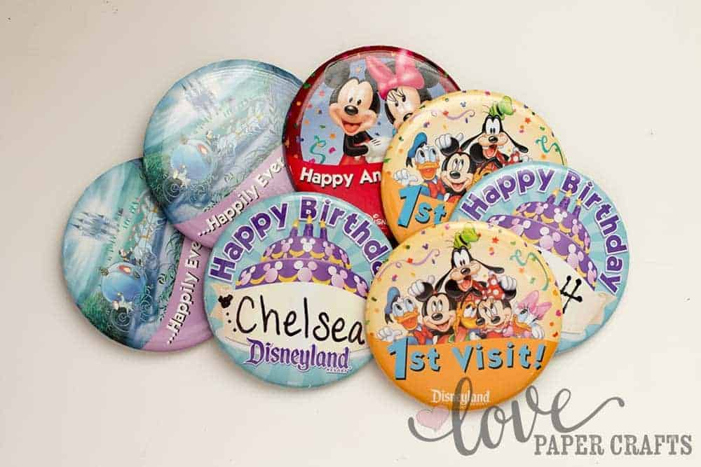Best Souvenirs at Disneyland Free Buttons | LovePaperCrafts.com