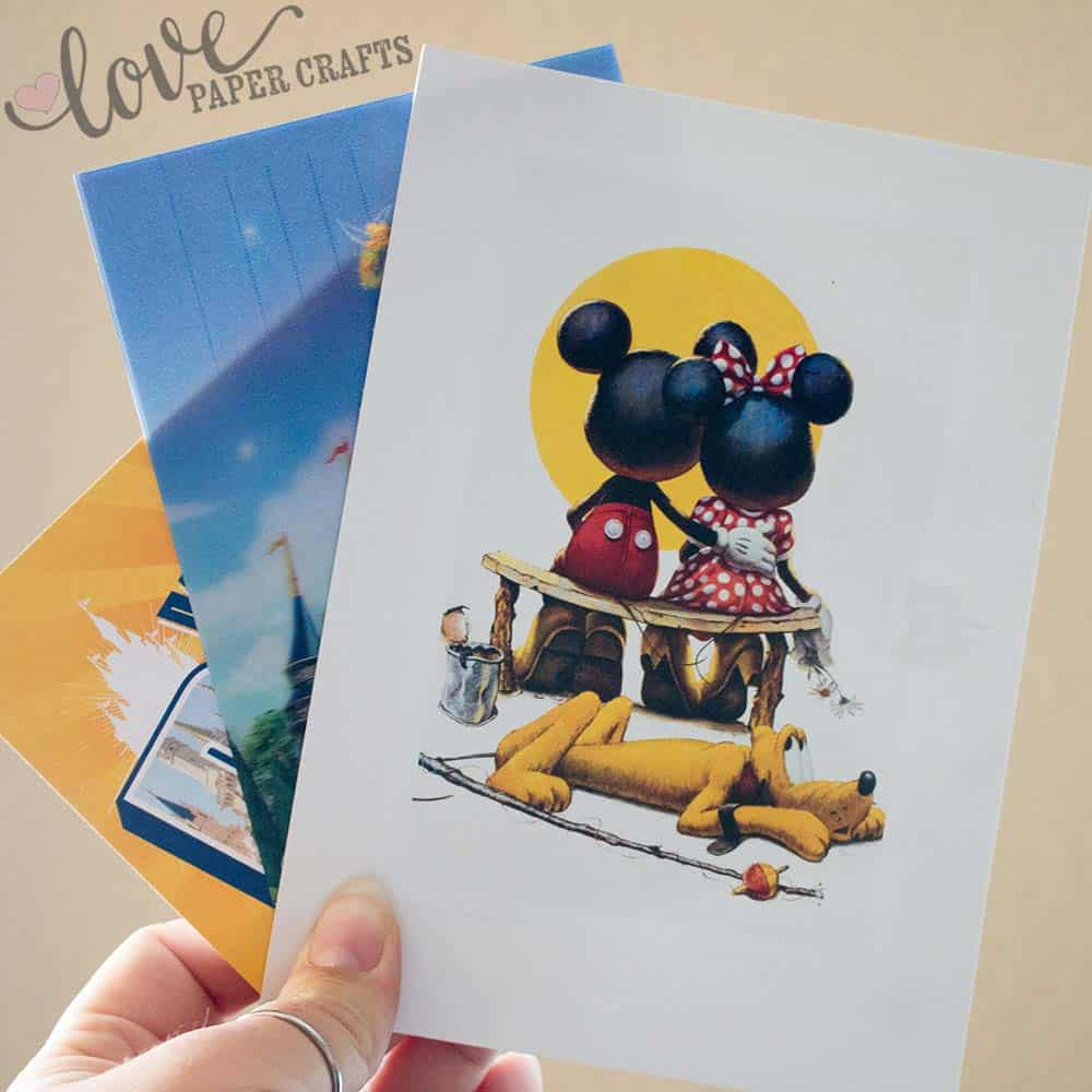 Best Souvenirs at Disneyland Post Cards | LovePaperCrafts.com