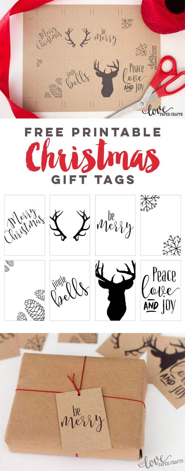 Printable christmas gift tags love paper crafts free printable christmas gift tags lovepapercrafts jeuxipadfo Images