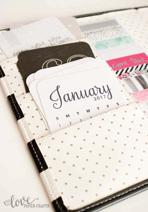 2017 Printable Calendar Journaling Cards can be used in #planner and #scrapbook. | LovePaperCrafts.com