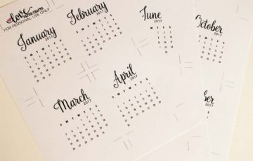 Free Printable 2017 Calendar Journaling Cards | LovePaperCrafts.com