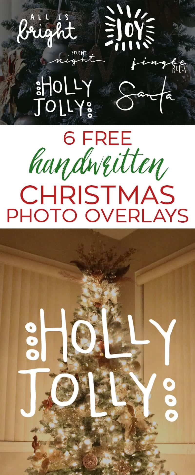 Handwritten Free Christmas Photo Overlays | LovePaperCrafts.com